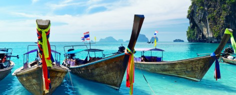 Fernweh: Boote in Thailand